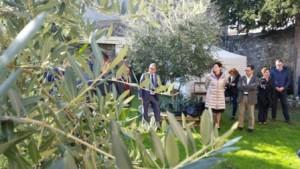 La presentazione del programma nel giardino