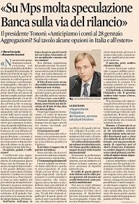 Quando Renzi diceva di comprare azioni Mps...