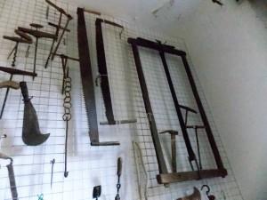 Museo di Saturnana, attrezzi per il taglio