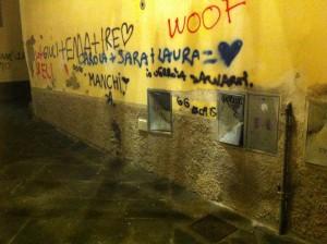 Pistoia, vandali in azione in via dei Bacchettoni
