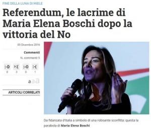Libero - E la Boschi pianse...