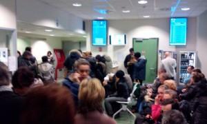 Congestione nella sala di attesa del pronto socccorso