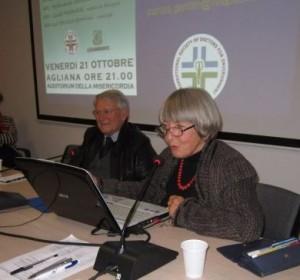 Ferdinando Santini con l'oncologa Patrizia Gentilini