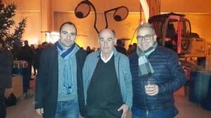 Nella foto, gli assessori Calamai e Forastiero con al centro il titolare della Coedil, Graziano Orlandi