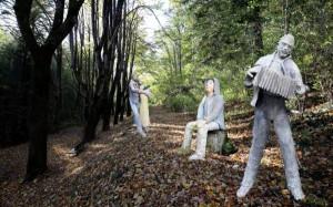 Ipotesi di percorso con le statue di Germano Pacelli