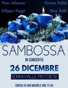 Sambossa in concerto a Serravalle