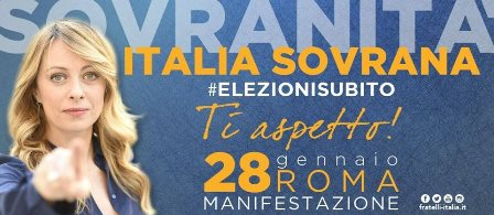 """FDI: """"MANIFESTAZIONE 'ITALIA SOVRANA', OBIETTIVO MILLE PERSONE DALLA TOSCANA"""""""