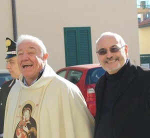 Don Tofani e Don Luciano Tempestini, nuovo correttore morale dela Misericordia di Agliana