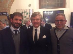 Nella foto Antognoni con Forastiero e Nicola Ciolini