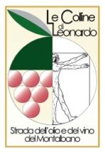 Il logo della strada dell'olio e del vino del Montalbano- Le colline di Leonardo