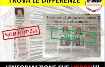 fuori dei denti. «M5S PISTOIA, SVEGLIA E PRENDI ESEMPIO DALLE ALTRE CITTÀ!»