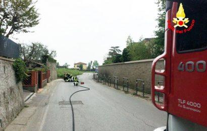 vigili del fuoco. INTERVENTO PER FUGA DI GAS