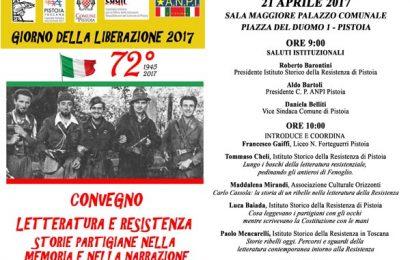 """25 aprile. """"LETTERATURA E RESISTENZA"""""""