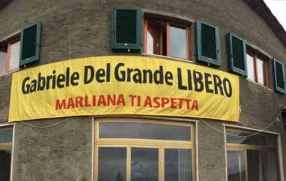"""""""GABRIELE DEL GRANDE LIBERO"""", OGGI INCONTRO A MARLIANA"""