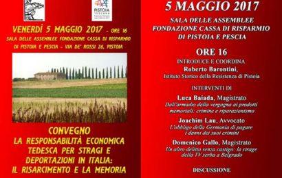 """convegno. """"LA RESPONSABILITÀ ECONOMICA TEDESCA PER STRAGI E DEPORTAZIONI IN ITALIA: IL RISARCIMENTO E LA MEMORIA"""""""