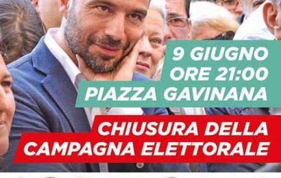 CHIUSURA DELLA CAMPAGNA ELETTORALE DI SAMUELE BERTINELLI
