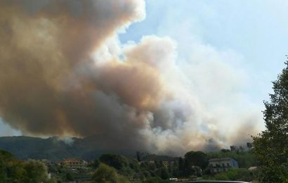 emergenza. IN FORTE ESPANSIONE L'INCENDIO SUL MONTALBANO