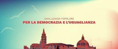"""quarrata. """"LA SINISTRA"""" ADERISCE AL PROGETTO """"DEMOCRAZIA UGUAGLIANZA"""""""