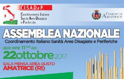 sanità are disagiate. IL CISADEP RIPARTE DA AMATRICE