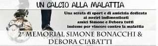 """serravalle. """"UN CALCIO ALLA MALATTIA"""" IN MEMORIA DI SIMONE E DEBORA"""