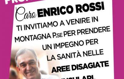 """san marcello. """"CARO ENRICO ROSSI VIENI IN MONTAGNA A PARLARE DI SANITÀ"""""""