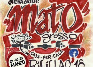montemurlo. RICICLAO 2018 – OPERAZIONE MATO GROSSO, L'ADESIONE DEL COMUNE