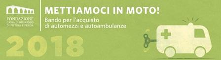 """fondazione caript. SI RINNOVA L'APPUNTAMENTO CON """"METTIAMOCI IN MOTO!"""""""