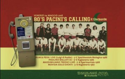 """80'S PACINI'S CALLING"", UNA SERATA TRA EX STUDENTI"