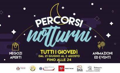 PERCORSI NOTTURNI: TORNA LO SHOPPING NEL CENTRO DI PISTOIA