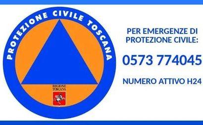 protezione civile. DA OGGI UN NUMERO DI TELEFONO SEMPRE ATTIVO