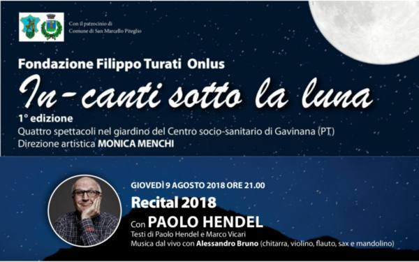 gavinana. «RECITAL 2018» DI PAOLO HENDEL