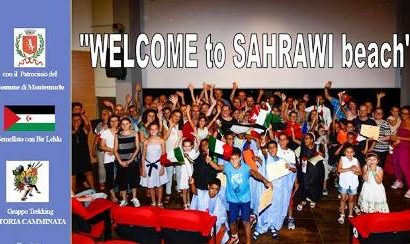 "montemurlo. ""WELCOME TO SAHARAWI BEACH"""