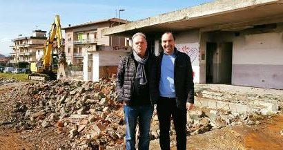 montemurlo. INIZIATE LE DEMOLIZIONI ALL'INTERNO DELL'EX CAMPO SPORTIVO