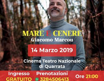 """teatro nazionale. """"MARE E CENERE"""": UN LIBRO, UNO SPETTACOLO"""