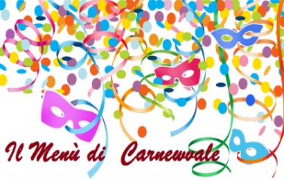 """carmignano. REFEZIONE SCOLASTICA, OGGI """"MENÙ DI CARNEVALE"""""""