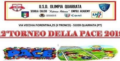 """calcio. TORNA IL PRESTIGIOSO """"TORNEO DELLA PACE"""""""