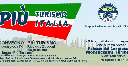 montecatini. PIÙ ITALIA PIÙ TURISMO