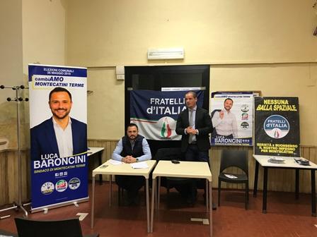 comunali 2019. BARONCINI E DANESI INCONTRANO I CITTADINI DI MONTECATINI ALTO