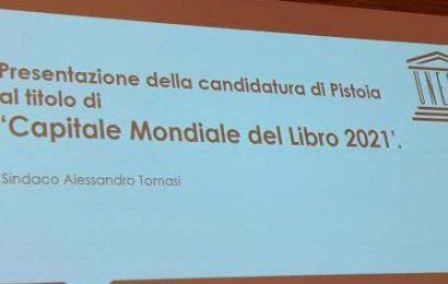 """PISTOIA CANDIDATA AL TITOLO DI """"CAPITALE MONDIALE DEL LIBRO"""" PER IL 2021, UNICA CITTÀ IN ITALIA"""