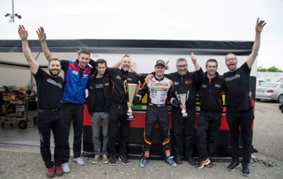 aci karting. TEAM DI SERRAVALLE LEADER DEL CAMPIONATO ITALIANO IN KZ2