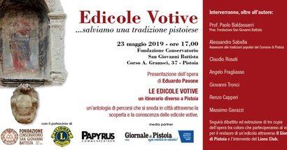 """""""LE EDICOLE VOTIVE – UN ITINERARIO DIVERSO A PISTOIA"""""""