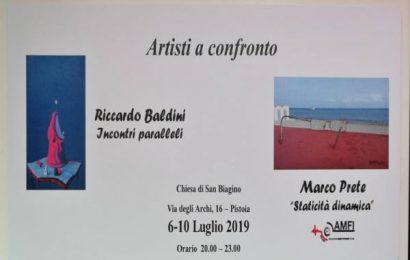 """""""ARTISTI A CONFRONTO"""", FOTOGRAFIA E PITTURA IN MOSTRA A PISTOIA"""