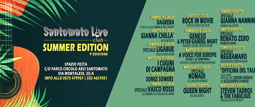 santomato live. CON IL SUMMER EDITION ESPLODE LA MUSICA