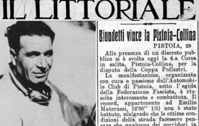 COPPA DELLA COLLINA: 90 ANNI FA LA PRIMA VITTORIA DI CLEMENTE BIONDETTI