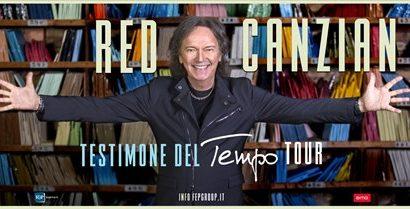 """red canzian a casalguidi. IN PIAZZA GRAMSCI IL """"TESTIMONE DEL TEMPO TOUR"""""""