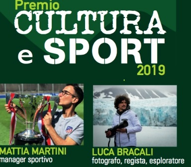 """A BRACALI E MARTINI IL PREMIO """"CULTURA E SPORT 2019"""""""