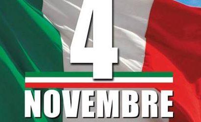 """montemurlo. NESSUNA CERIMONIA PUBBLICA PER IL 4 NOVEMBRE """"GIORNO DELL'UNITÀ NAZIONALE E DELLE FORZE ARMATE"""""""
