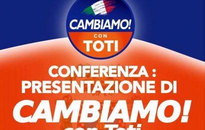 """san Marcello. """"CAMBIAMO! CON TOTI"""", PRESENTAZIONE ALLA BACCARINI"""