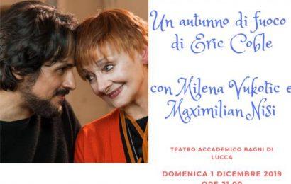 """MILENA VUKOTIC IN SCENA A POPIGLIO IN """"AUTUNNO DI FUOCO"""""""