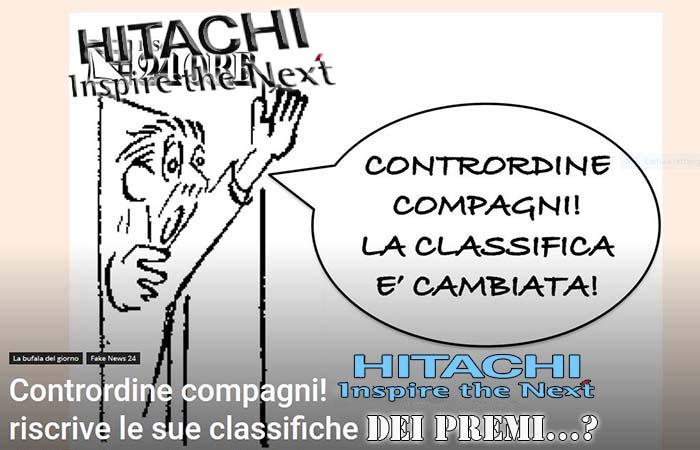 hitachi. CONTRORDINE, COMPAGNI! L'ORDINE ERA…